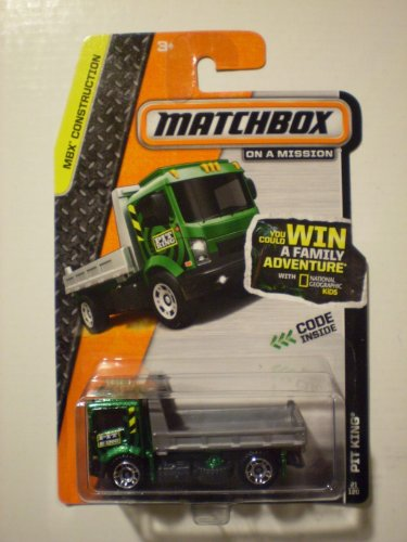 2014 Matchbox MBX Construction PIT King Metallic Green & Gray 21/120 - 1