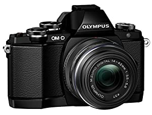 Olympus OM-D E-M10 Mirrorless Digital Camera with 14-42mm F3.5-5.6 Lens (Black)