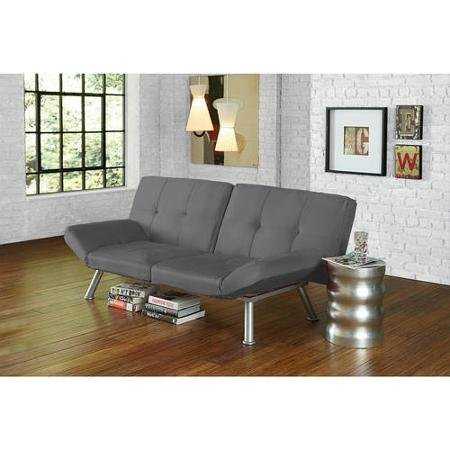 Contempo Futon Perfect for Lounging, Entertaining and Sleeping Color Charcoal