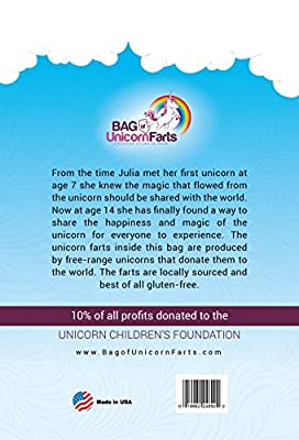 Bag of Unicorn Farts (Cotton Candy) Funny Unique Gag Gift for Friends, Coworkers, Mom or Dad by Little Stinker
