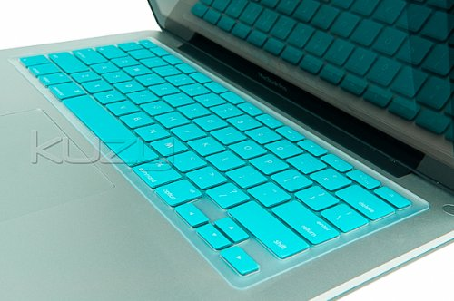 Kuzy - Neon Teal Keyboard Silicone Cover Skin for MacBook Pro 13