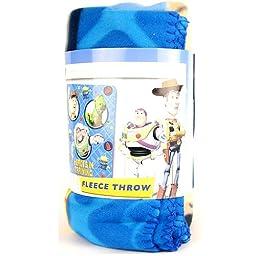 Disney Toy Story Buzz Lightyear Woody Fleece Throw Blanket