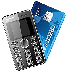 Kechaoda K66 Mini ultra slim credit card size Mobile phone With Bluetooth MP3 FM ** Black Colour ** (Like AIEK) ** FREE CHARGER WORTH 100 RS/- **