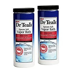 Dr. Teals Epsom Salt Vapor Bath Tension and Fatigue, 22 Ounce - Pack Of 2