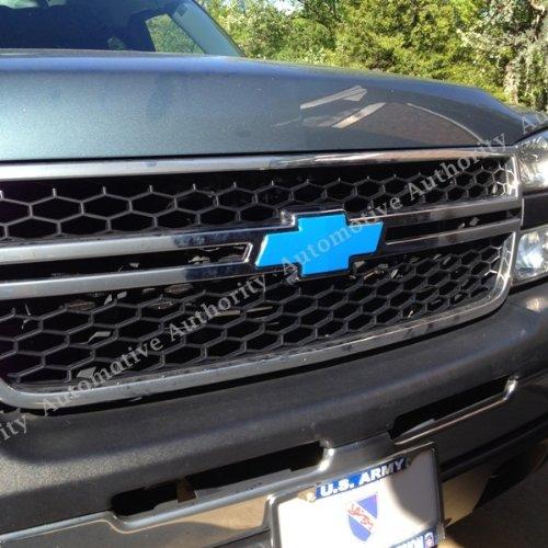 Carbon Sticker Chevrolet Silverado Blue Bowtie - Chevy silverado bowtie decal