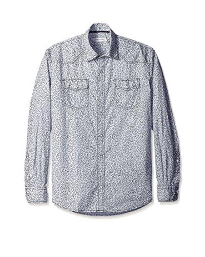 James Campbell Men's Nebraska Floral Print Long Sleeve Shirt