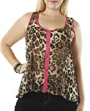 Wet Seal Womens Pop Piping Animal Tank