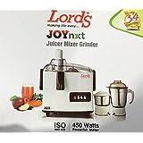 Lords Joy 450-Watt 2 Jar Juicer Mixer Grinder With Fruit Filter Superior Quality Copper Motor.