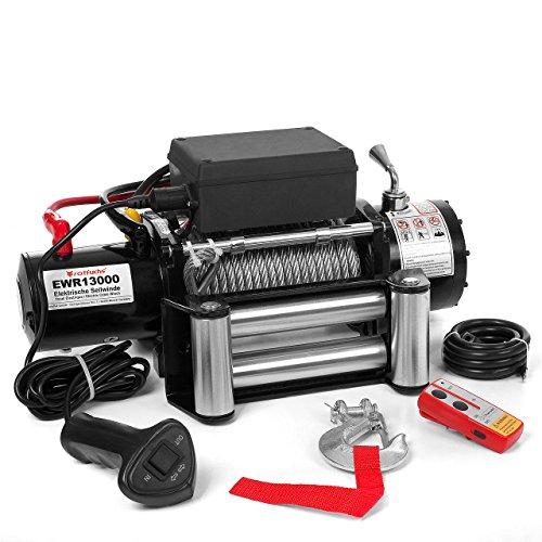 Elektrische-Seilwinde-Motorwinde-12V-5909-KG-60-PS-inkl-Funkfernbedienung-Schwarz