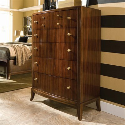 American Drew Bob Mackie Home Signature 8 Drawer Chest in Rosewood Finish