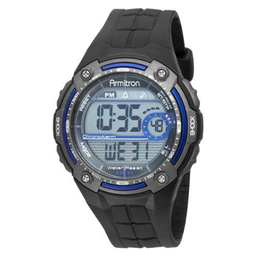armitron s digital blue and gray chronograph sport
