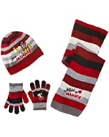 Disney Girls' Minnie Mouse Scarf, Hat and Glove Set