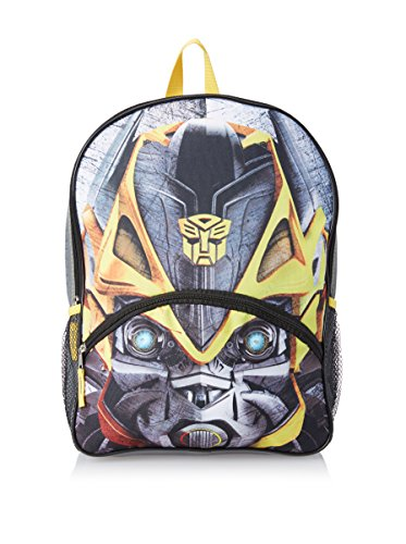 Transformers Boys Big Face Bumblebee 16-Inch Backpack with Lights