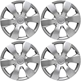 OxGord Hub-caps for 07-11 Toyota Camry (Pack of 4) Wheel Covers 16 inch Snap On Silver