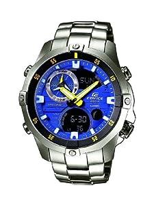 Casio Herren-Armbanduhr XL Edifice Analog - Digital Quarz Edelstahl EMA-100D-2AVUEF