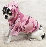 Casual Canine Cotton Camo Dog Hoodie, Medium, Pink