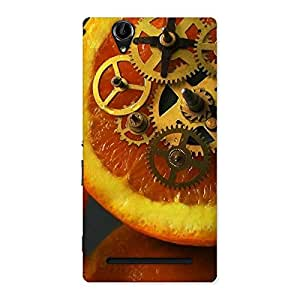 Special Orange Machines Back Case Cover for Sony Xperia T2