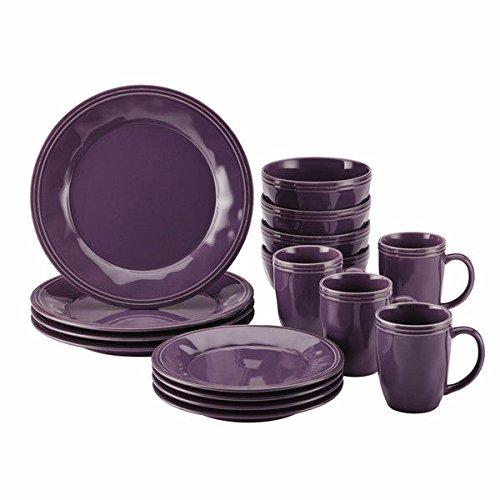 Rachael Ray Cucina Dinnerware 16-piece Lavender Purple Stoneware Dinnerware Set