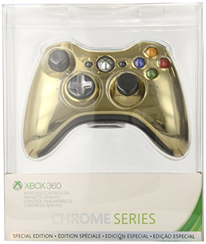 Xbox 360 Wireless Controller - Gold Chrome (Gold Controller compare prices)