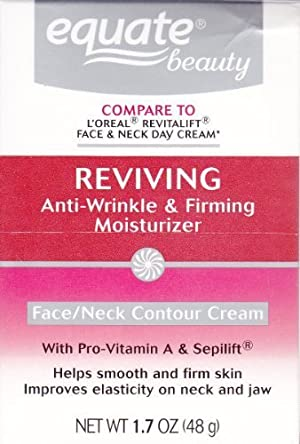 Equate Advanced Reviving Anti Wrinkle and Firming Moisturizer Face and