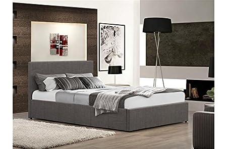 Istanbul grau Stoff Stauraum Bett 3Ft 4ft 4FT65ft, 122 cm
