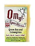 O My!Tm Green Tea & Lemongrass Goat Milk Soap All Natural, Palm Oil Free, Handmade Soap Made In Usa