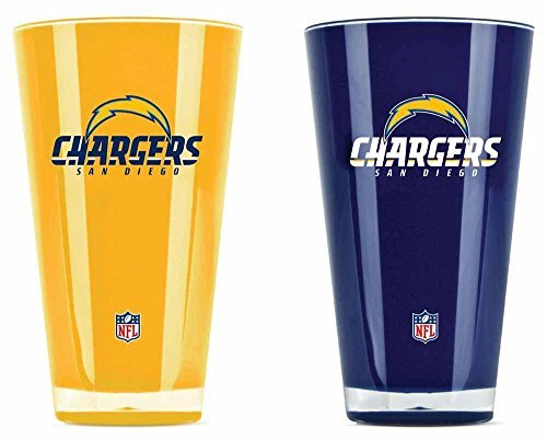 San Diego Chargers Official NFL 20 fl. oz. Tumbler Cup Set by Duck House by Duck House