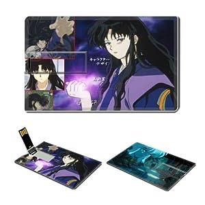 4GB USB Flash Drive USB 2.0 Memory Credit Card Size Anime Inuyasha Comic Game Customized Support Services Ready Naraku 001