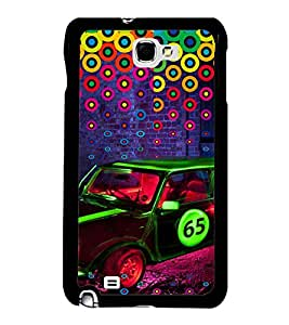 Fuson Premium 2D Back Case Cover Stylish Car With Multi Background Degined For Samsung Galaxy Note 2::Samsung Galaxy Note 2 N7100