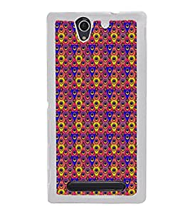Colourful Pattern 2D Hard Polycarbonate Designer Back Case Cover for Sony Xperia C3 Dual :: Sony Xperia C3 Dual D2502