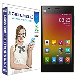 Cellbell Premium Xiaomi Mi3 (Clear) Tempered Glass Screen Protector (Comes with Warranty,User guide,Complimentary Prep cloth)-Bronze Edition