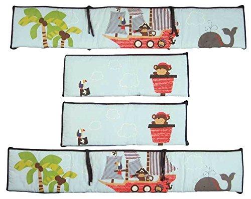 Treasure Island Jungle Monkeys Sailing Gray Whale Nursery Crib Bumper (Treasure Island Bumper compare prices)