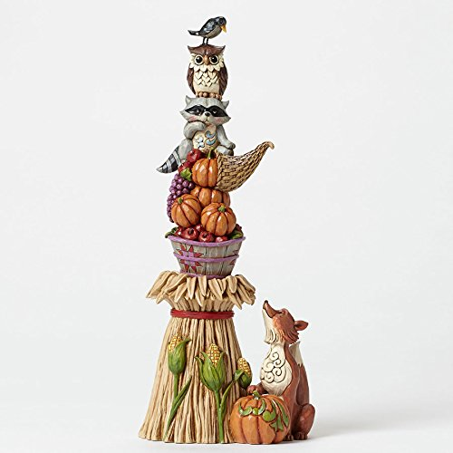 Jim Shore for Enesco Heartwood Creek Stacked Harvest Animals Figurine, 12.5