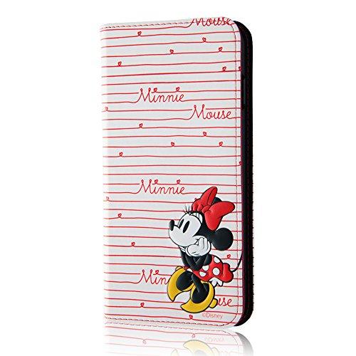 レイ・アウト iPhone7 Plus ケース ディズニー 手帳型 ケース(ICカード /ストラップホール) ポップアップ スタンディング カーシヴ/ミニーマウス RT-DP13T/MN