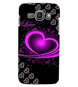 ColourCraft Love Heart Design Back Case Cover for SAMSUNG GALAXY ACE 3 S7272 DUOS