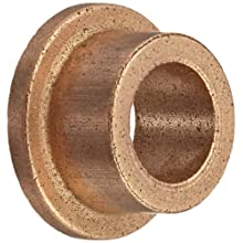 "Bunting Bearings EF040604 Flanged Bearings, Powdered Metal SAE 841, 1/4"" Bore x 3/8"" OD x 1/4"" Length 1/2"" Flange OD x 1/16"" Flange Thickness (Pack of 3)"