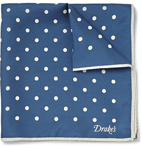 (キングマン) Kingsman Drake's Polka-Dot Silk-Twill Pocket Square ドレイクの水玉シルク ツイル ポケット広場 (並行輸入品) LUKVERY