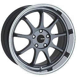 18×8.5 Enkei Tenjin (Gunmetal w/ Machined Lip) Wheels/Rims 5×114.3 (478-885-6535GM)