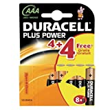 Duracell AAA LR03 MN2400 8(4+4) plus power batteries Exp 2018