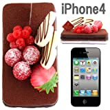 iPhone 4専用★食品サンプルケーキカバー(チョコケーキ)【チョコ/チョコレート】