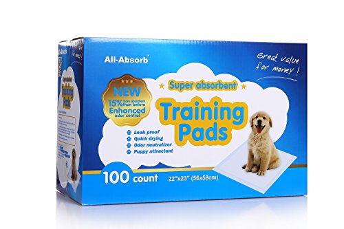 All-Absorb Training Pads 100-count, 22-inch By 23-inch. (Puppy Pad Training compare prices)