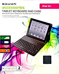 Bauhn Accessories Tablet Keyboard and Case with Bluetooth Wireless Technology (for iPad Air)