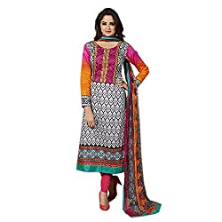 Shenoa Women Cotton Dress Material (2105A _Orange _10)