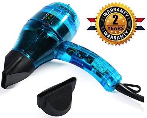 Professional Ionic Hair Dryer Handcrafted in France for Europe's Top Salons, Dual Ion Generator Function Builds Shine & Volume 1600w, Featherweight (Best Travel Hair Dryer For Europe compare prices)