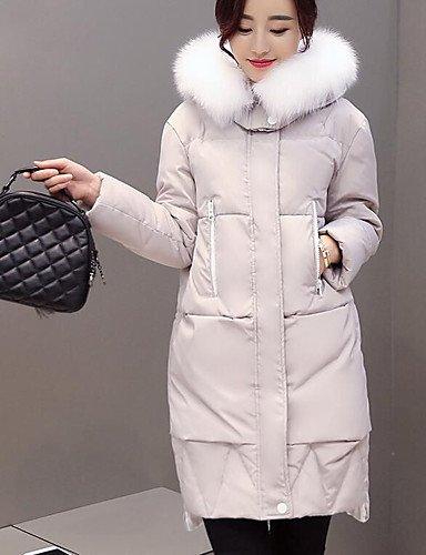 piumino-da-donnacappotto-semplice-casual-tinta-unita-pelliccia-di-volpe-piumino-in-piuma-doca-bianca
