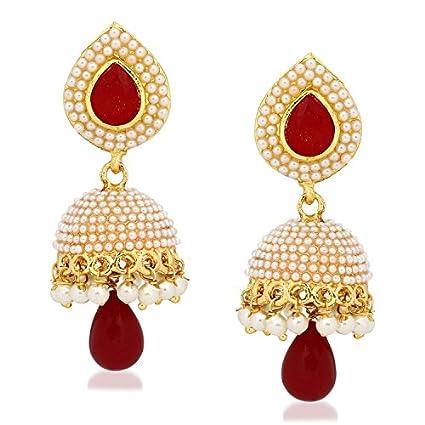 Meenaz-Kundan-Pearl-Jhumki-Earrings-For-Women-Girls-in-Traditional-Ethnic-Gold-Plated-J144