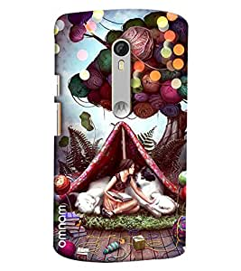 Omnam Beautiful Painting With Wool Printed Designer Back Cover Case For Moto X Style