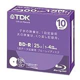 TDK LoR データ用ブルーレイディスク キャッシュバックキャンペーンモデル BD-R 25GB 1-4倍速 ホワイトワイドプリンタブル 10枚 5mmスリムケース BRD25PWB10UB