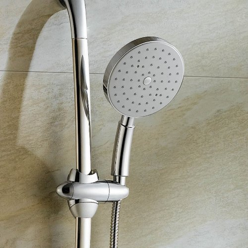 Round Chrome Effect Hand Held Shower Head - 150mm