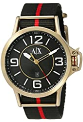 Armani Exchange Men's AX1581 Analog Display Analog Quartz Black Watch